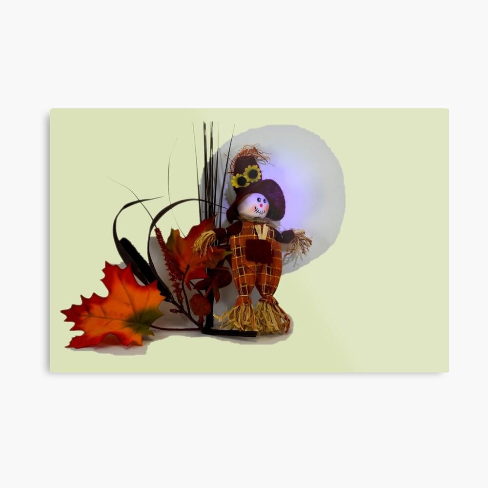 Halloween Scarecrow Metallbild