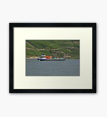 Container Barge Hirschhorn Framed Print