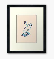 ElectroVideo Playstation (Blue) Framed Print