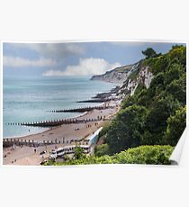 English Beach Scene  Poster