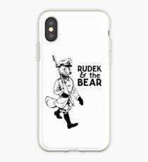 Rudek and the Bear iPhone Case