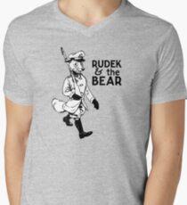 Rudek and the Bear Men's V-Neck T-Shirt