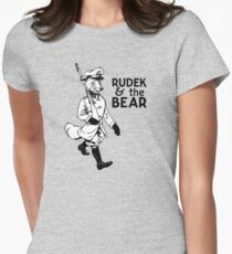 Rudek and the Bear Women's Fitted T-Shirt