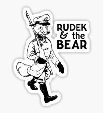 Rudek and the Bear Sticker