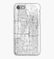 Salt Lake City Map Line iPhone Case/Skin