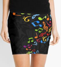 Flight of notes Mini Skirt