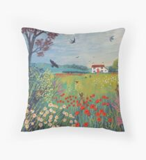 The House by Summer Meadow Throw Pillow