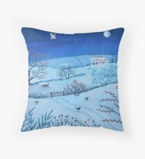 One Snowy Night Throw Pillow