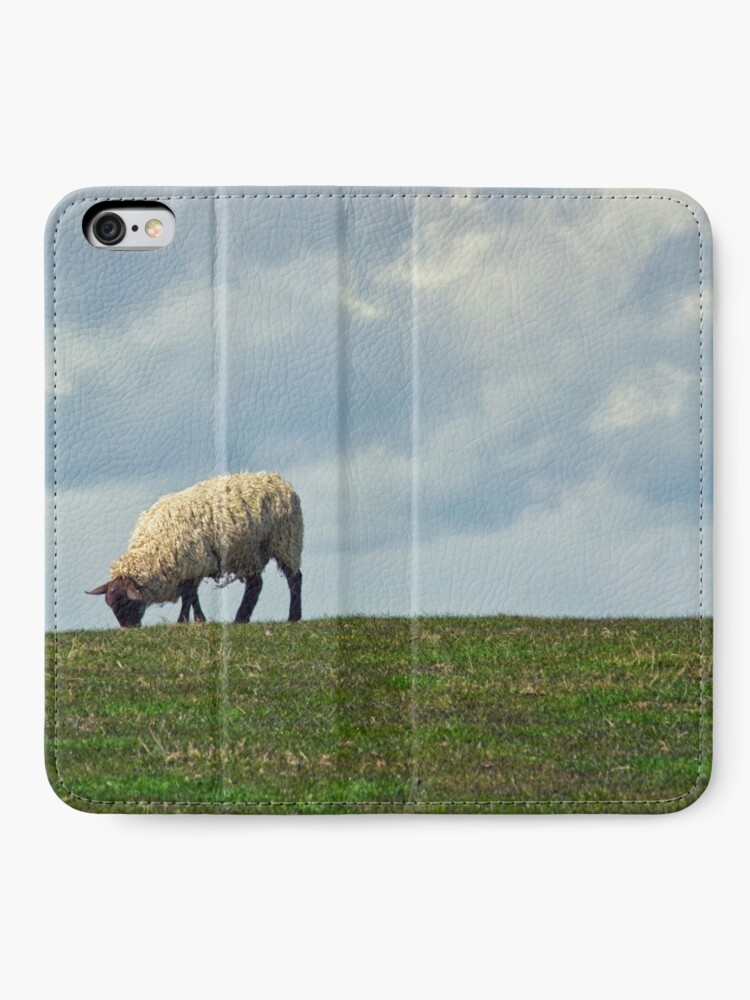 Alternate view of Sheep on the Hill iPhone Wallet