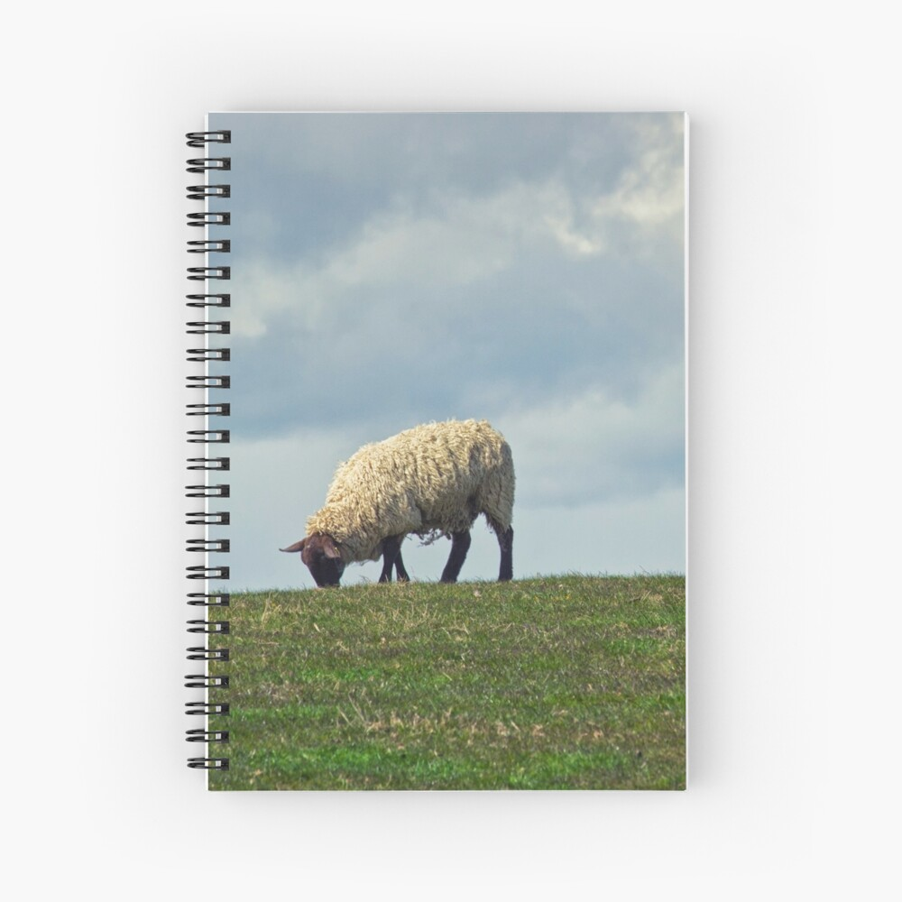 Sheep on the Hill Spiral Notebook