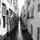 Black and White Venice by Rob Schoon