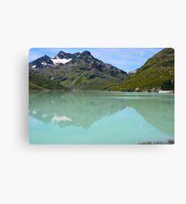 Silvrettasee Reflection  Canvas Print