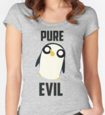 Evil is cute Women's Fitted Scoop T-Shirt