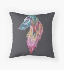 Saluki Totem Throw Pillow