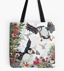 Drawing Paradise - Puffins Tote Bag