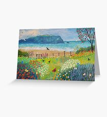 Garden Beside the Sea Greeting Card