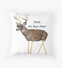 Still No Eye Deer Throw Pillow