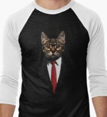 The Jacket Cat Men's Baseball ¾ T-Shirt