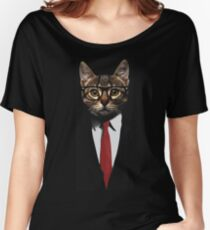The Jacket Cat Women's Relaxed Fit T-Shirt