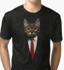 The Jacket Cat Tri-blend T-Shirt
