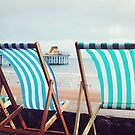 Deckchairs on the seafront by Katieshires