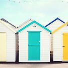 Bright Beach Huts by Katieshires