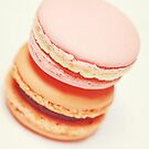 Delicious pink and orange macarons by Katieshires