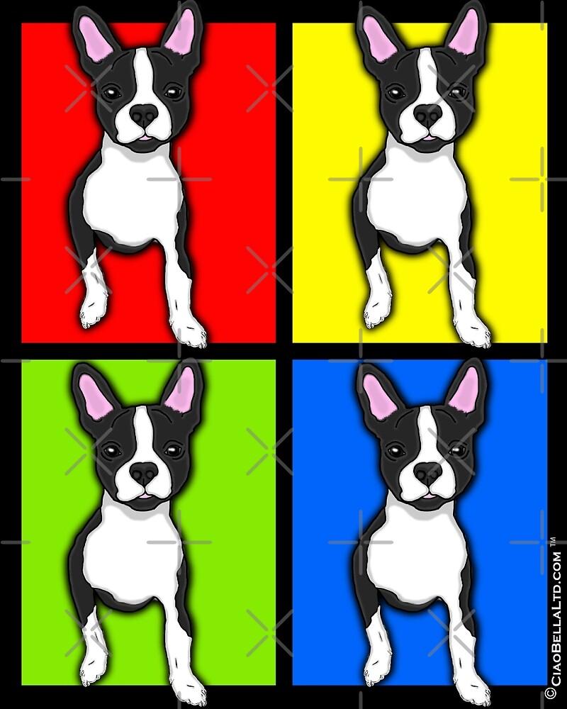 Inquisitive Boston Terrier Pop Art by CiaoBellaLtd