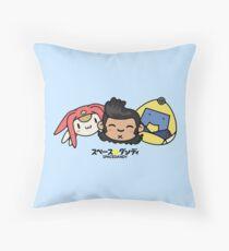 Space Dandy & Friends Throw Pillow