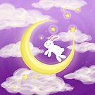 Moon Bunny Purple by thedustyphoenix