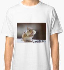 Streifenhörnchen mit Fett Wangen Classic T-Shirt