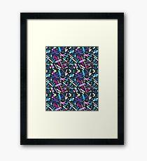 Colorful cool geometric pattern  Framed Print