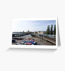 Trains in Stockholm, Sweden Greeting Card