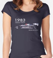 BRABHAM 1983 NELSON PIQUET (1) Women's Fitted Scoop T-Shirt