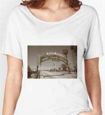 Route 66 - Santa Monica Pier Women's Relaxed Fit T-Shirt