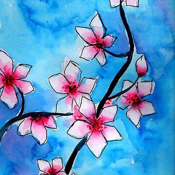 Cherry Blossom  by mira-luan-art