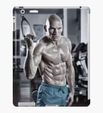 Abs workout in the gym iPad Case/Skin