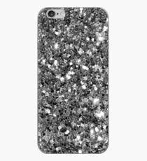 Silver Sparkly Confetti Glitter iPhone Case