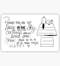 Snoopy Quote Sticker