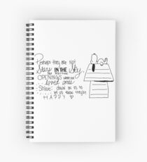 Snoopy Quote Spiral Notebook