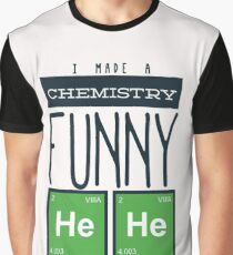 Whimsical Chemistry Geek Design Graphic T-Shirt