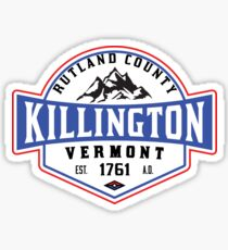 KILLINGTON VERMONT Mountain Skiing Snowboard Biking Hiking Sticker