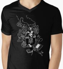 Donnie Darko (Black Background) Men's V-Neck T-Shirt