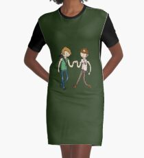 Walking Death Time Graphic T-Shirt Dress