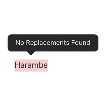 Harambe - No Replacements by oapparelco