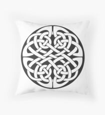 Round Celtic Knot Throw Pillow
