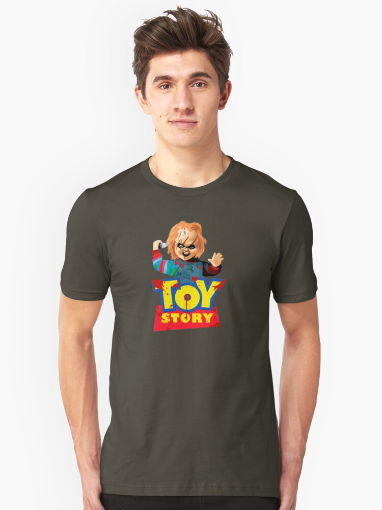 Chucky - A Toy Story (Parody) Unisex T-Shirt Front