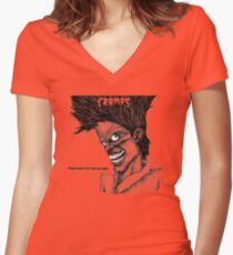 Bad music for Bad people Women's Fitted V-Neck T-Shirt