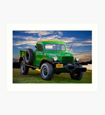 1949 Dodge Power Wagon Ram I Art Print