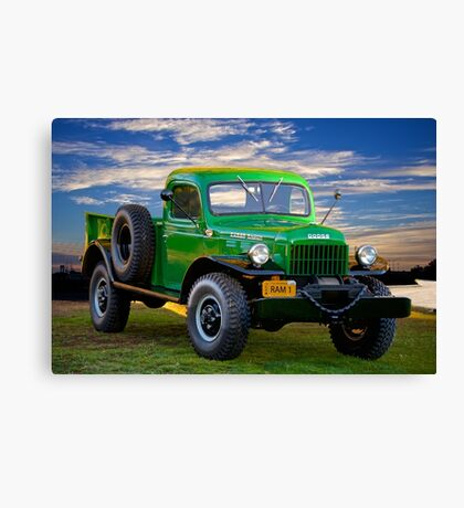 1949 Dodge Power Wagon Ram I Canvas Print